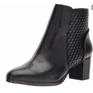 NWT Jack Rogers Deborah Black Leather Ankle Bootie